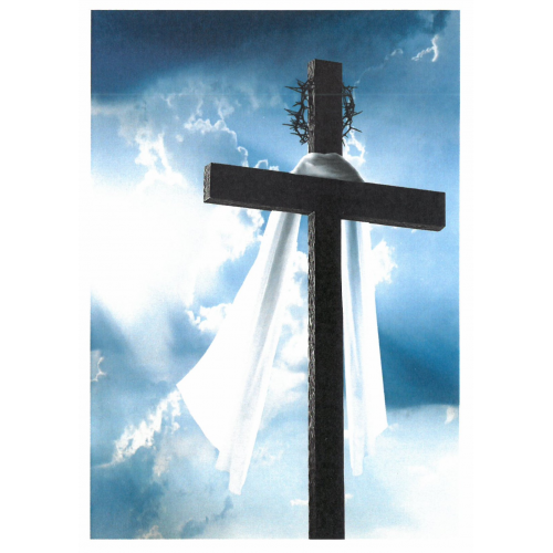 Easter Cross (Greetings card) - pack of 6, new
