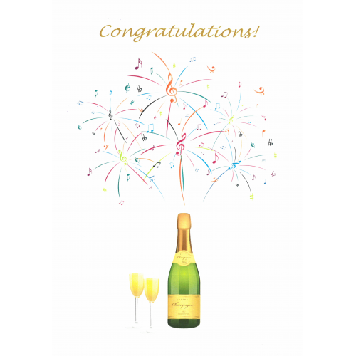 Champagne Congratulations (Greetings Card), new
