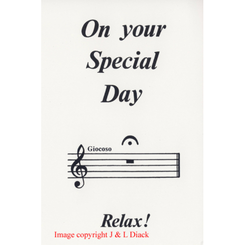 MC40240 On Your Special Day - Relax!